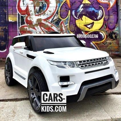 Электромобиль Range Rover Sport черный (резиновые колеса, кожа, пульт, музыка)