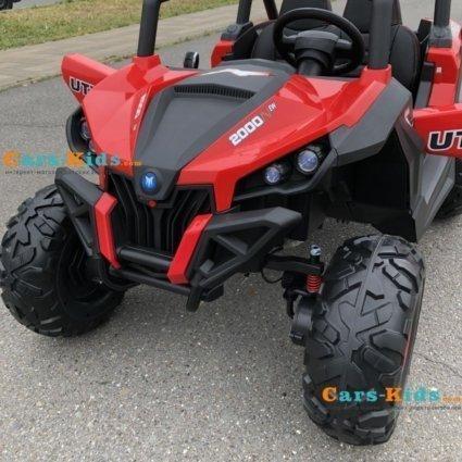 Электромобиль Buggy XMX603 красный (2х местный, полный привод, колеса резина, кресло кожа, пульт, музыка)